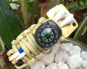 "Golfers Survival Paracord Bracelet, its called ""The Golf Caddy """