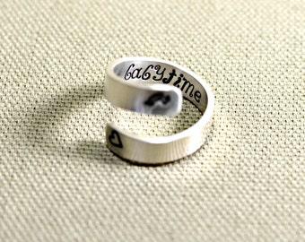 Sterling silver Kokopelli fertility bypass ring - 925  Wrap Ring RG445