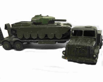 1950s Vintage Dinky 660 Antar Tank Transporter with 651 Centurian Tank Toy Collectible Made in England