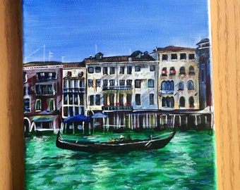 Venice Painting (or send me a picture of a place you would like me to paint.)