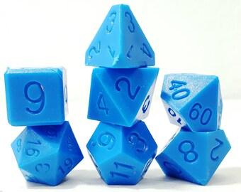 Perfect Plastic Dice - RAW - Blue