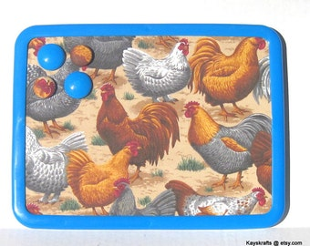 Chickens and Roosters Magnet Board Bulletin Board on Etsy 8x11 Message Board Comes With 4 Button Magnets Adults Teens Kitchen Dorm Holiday