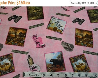 On Sale Item 229, ReelTree Camo on Pink,  100% Cotton, By the Yard, ReelTree