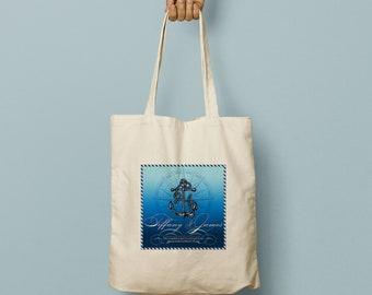 SIDNEY Cruise Wedding Welcome Bag, Custom Canvas Tote, Wedding Bag, Welcome Gift, Wedding Favor, Beach Tote, Swag Bag, Anchor, Nautical