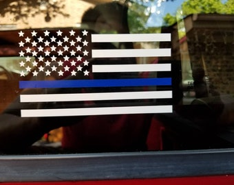 Thin Blue Line Decal,