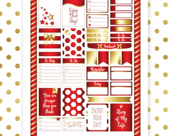 All Crimson Pro Printable Planner Stickers for Erin Condren (EC) Life Planner