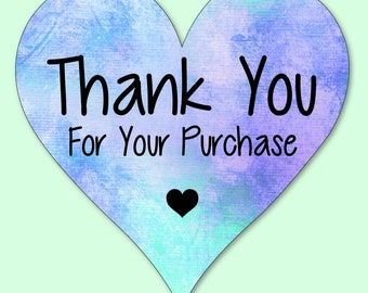 Set of 24 Thank You  Labels