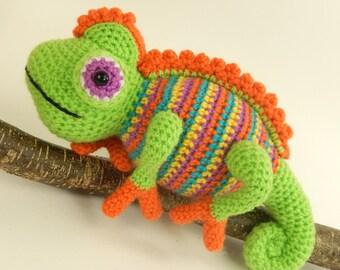 Camelia the Chameleon - Amigurumi Crochet Pattern