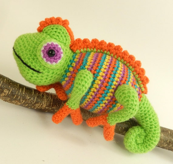 Camelia The Chameleon Amigurumi Crochet Pattern