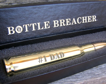 Gift for Dad. Engraved 50 Caliber Bullet Bottle Opener with Gift Box. Husband Gift. Brother Gift. Grandfather. Father's Day Gift for Men