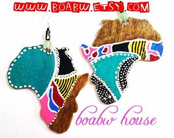 Woodstain Festive Africa Earrings