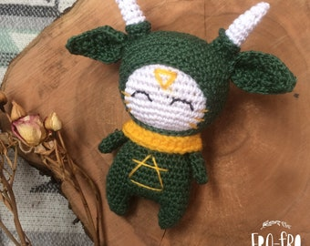 Forest spirit Elnes | Cute Amigurumi Toy | Spirit Amigurumi Doll