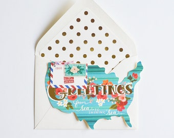 Choose Your State Greetings Card !