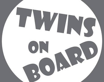 Twins On Board - Circle Bubble