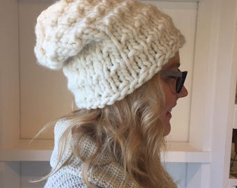 The Emily- Slouchy, Chunky Knit Wool Hat