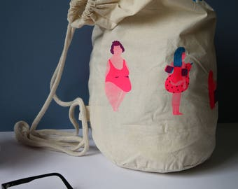 Tote bag - Silk screened beach bag