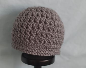 Ladies Messy Bun/Ponytail Hat-Light Heather Gray