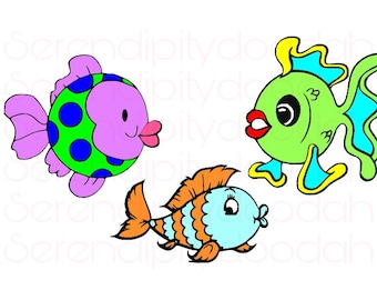 Baby Bubbles Fish SVG/PNG