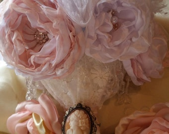 Victoriana fabric bridal bouquet