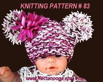 KNITTING or crochet PATTERN..No. 83...Easy Beginner , Infants to Adult.....For a crochet version see my pattern number 34..