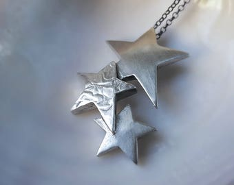 Silver Star Necklace Star Jewelry Star Charm Star Pendant Celestial Necklace Celestial Pendant Universe Necklace Star Choker