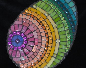 Springtime Meditation Mosaic Wall Art by Brenda Pokorny Colorful Easter Egg  MOW1033