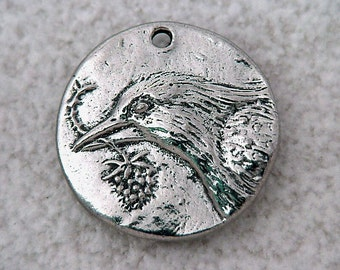Green Girl Studios Bird Hope Coin Pewter Pendant