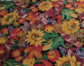 Fall Ribbon Cotton Fabric