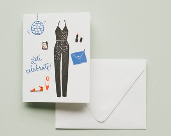 Letterpress Card- Let's Celebrate!