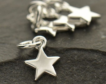 Tiny Star Charm 925 Sterling Silver Small Pendant Children Child Girl Necklace Celestial Sky Dainty 862