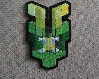Green Voxel Demon. Oni Series. Limited Edition.