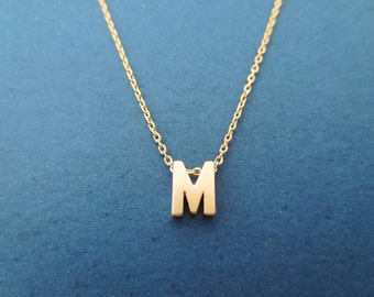 Personalized, Letter, Initial, Capital letter, Gold, Necklace, Custom, Alphabet, Birthday, Lovers, Best friends, Gift, Jewelry