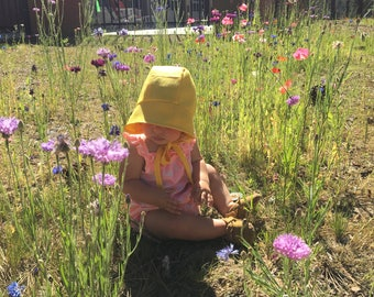 classic baby bonnet hat infant or toddler sunhat beach summer fall spring sunbonnet sun hat baby gift