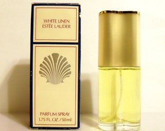 Vintage 1990s White Linen by Estee Lauder 1.75 oz Parfum Spray and Box PERFUME