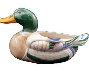 Duck Planter - USA Planter - Ceramic Planter - Ceramic Duck - Vintage Duck - American Duck - Farmhouse Planter - Pottery Duck - FS 85 F.S.