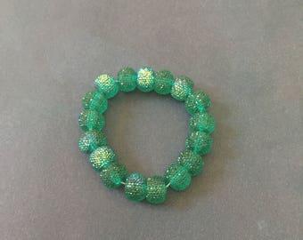 Green Acrylic Beaded Bracelet