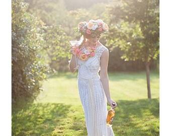 Crochet wedding etsy crochet wedding dress pattern junglespirit Images