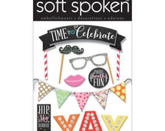 Celebration Dimensional Stickers by Soft Spoken, Me & My Big Ideas Stickers