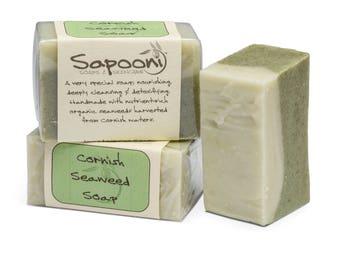 Cornish Seaweed Soap,seaweed soap,natural soap,palm oil free soap,handmade soap,bar soap,hand soap, soap