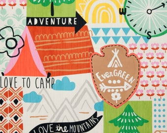 SALE - Alexander Henry - Love to Camp in Brite Multi
