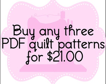 Any 3 PDF patterns from Quilt Story