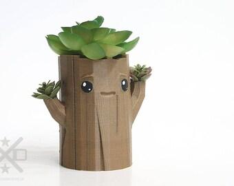 Cute tree planter, Happy planter, Cute planter, Face planter, succulent planter, air plant holder, Nursery decor, Kawaii decor, tree planter
