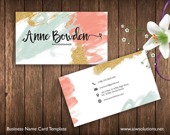 Business cards printable name card template photography name business cards printable name card template photography name card calling cards diy business cards easy to edit and print at home reheart Images