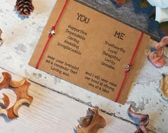 Best Friend Bracelet, Double Friendship Bracelet, Infinity Bracelet, Double Wish Bracelet, Elephant Bracelet, Gift for friend, Charm Wish