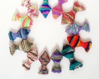 Knit Fish Cat Toys with Optional Catnip, Valerian, Silvervine, Jingle Bell