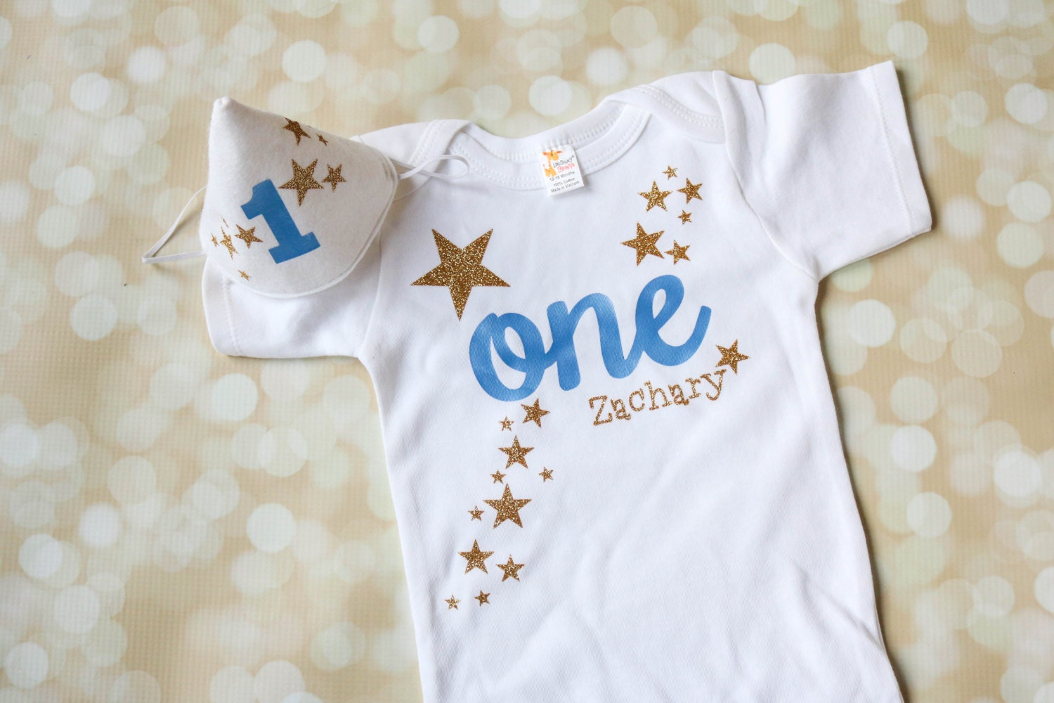 First Birthday Outfit for Baby Boy Includes Personalized