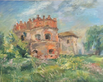 Oil Painting Summer Landscape Painting by Galina