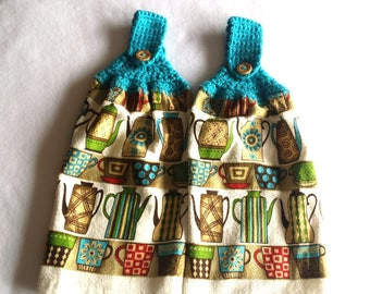 Hanging Kitchen Towels ~ Hanging Hand Towels ~ Hanging Dish Towels ~ Kitchen Towel ~ Set of 2
