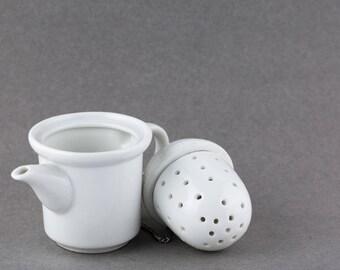 Vintage White Acorn Tea Infuser Made in Japan