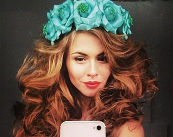 Floral Headband, flower headband, bridal crown, floral crown, handmade wreath, floral hairrim,floral headband, floral wreath, flower crown